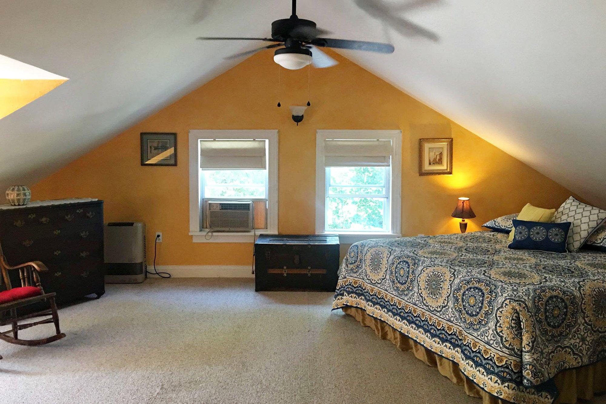 gabled room
