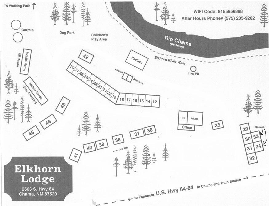 Elkhorn Lodge Property Map