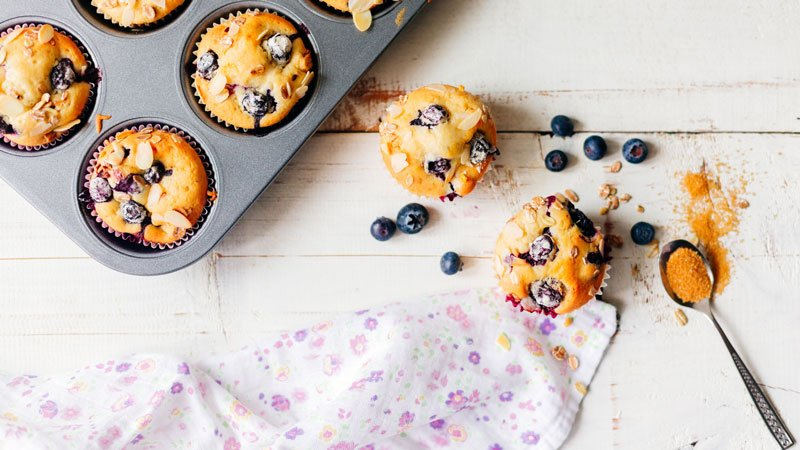 Blueberry Muffins in tins