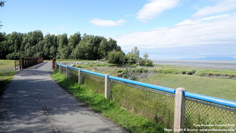 Bike trail and fence