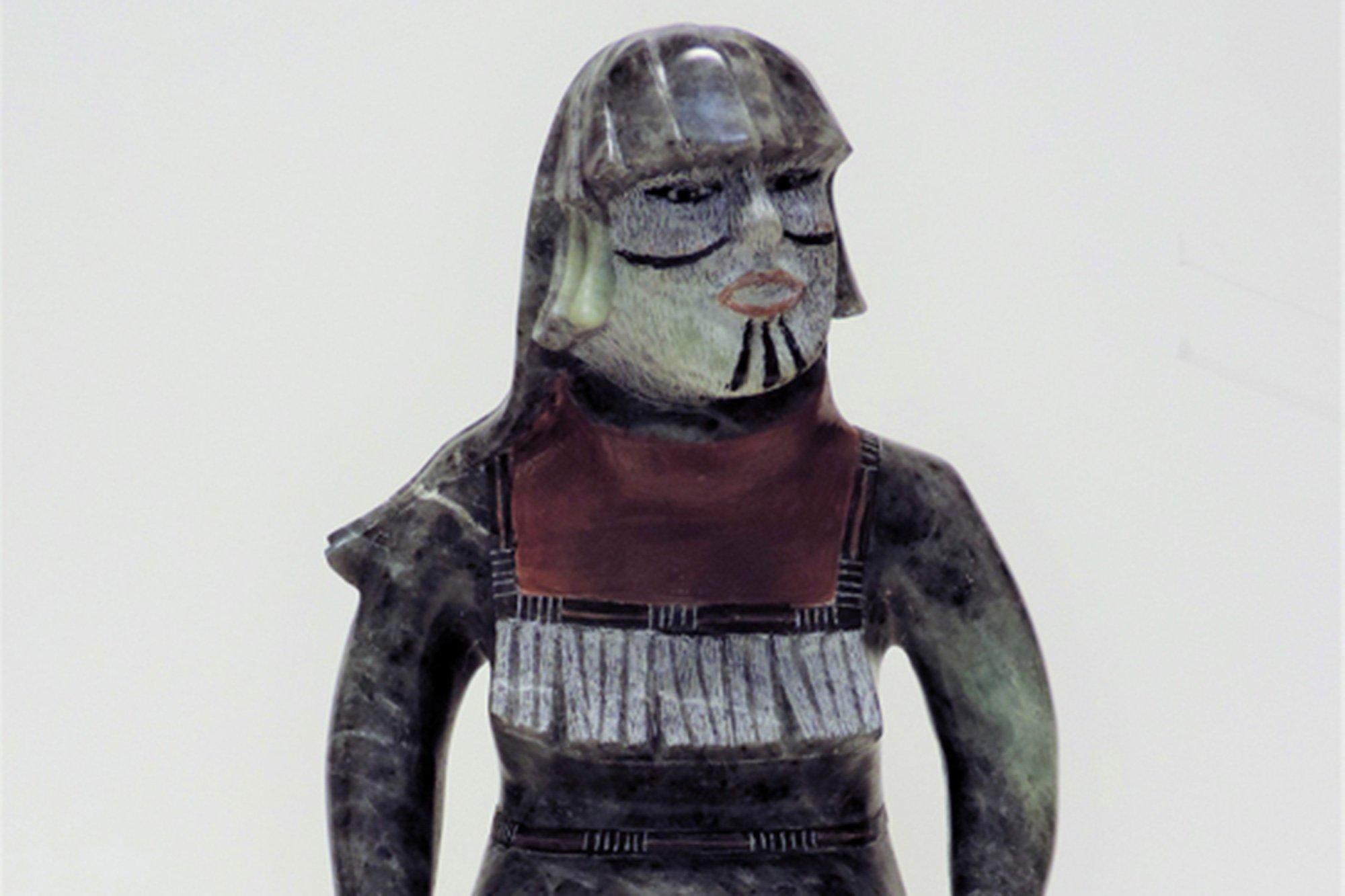 small statue of native figure