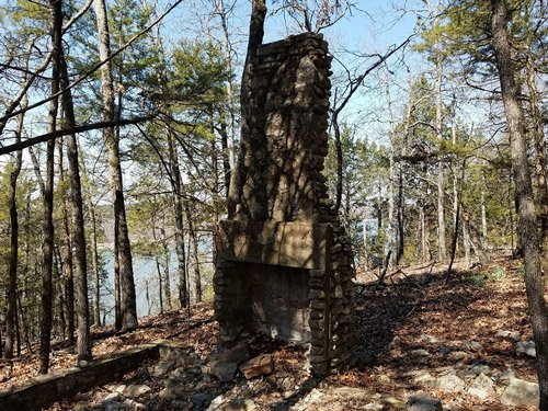 Old chiminey in woods