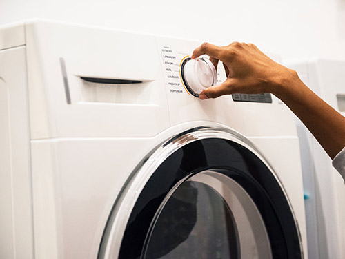 Turning the laundry dial