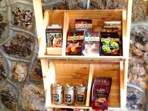 Snacks on a shelf