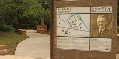 San Saba River Nature Park Display