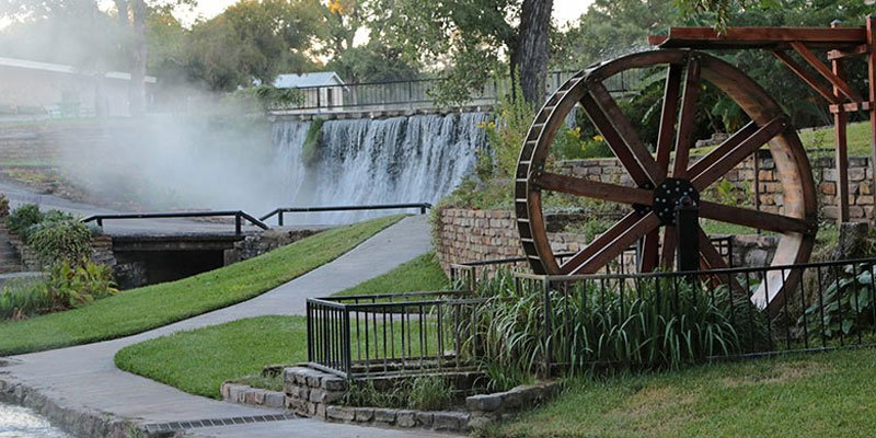 Waterwheel and Falls Pond Park