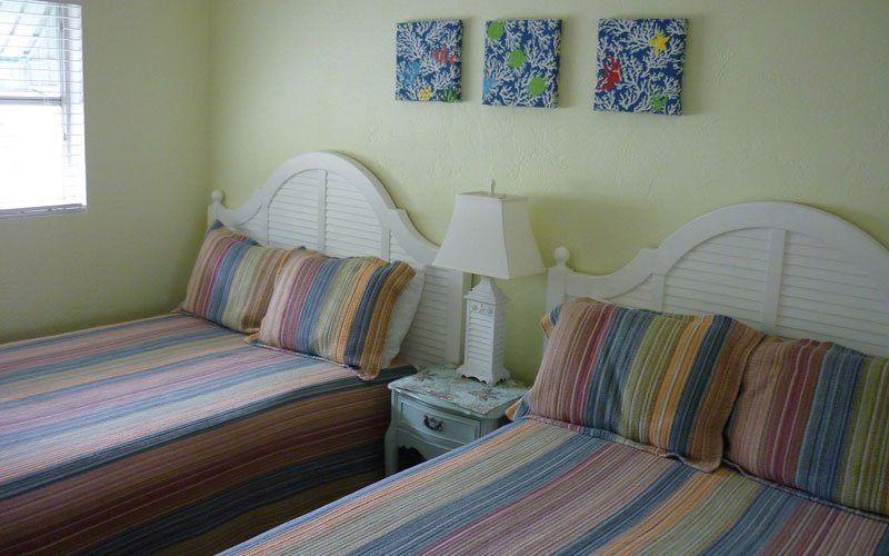Two full size Beds with nightstand