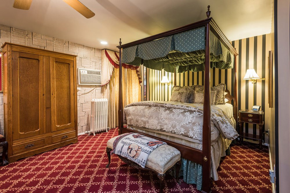 Fourposter bed and wardrobe   The Inn at 410, Historic Downtown District Flagstaff, AZ