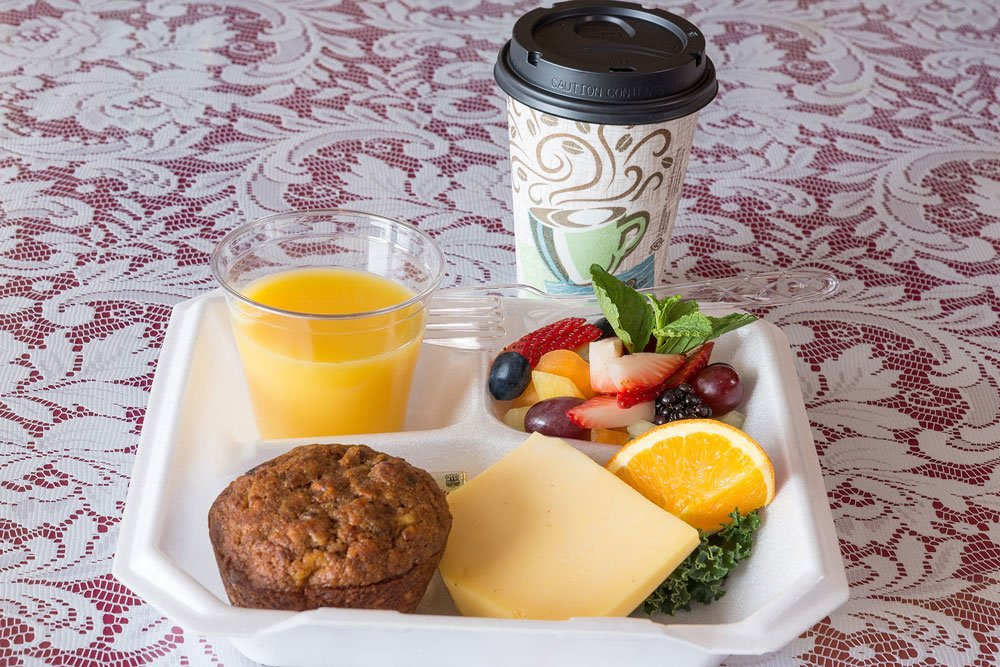 Orange Juice, Muffin and Coffee  | The Inn at 410, Historic Downtown District Flagstaff, AZ