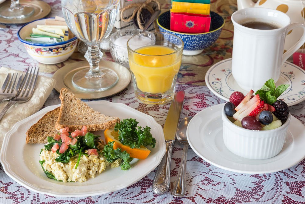 tofu scramble table setting | The Inn at 410, Historic Downtown District Flagstaff, AZ