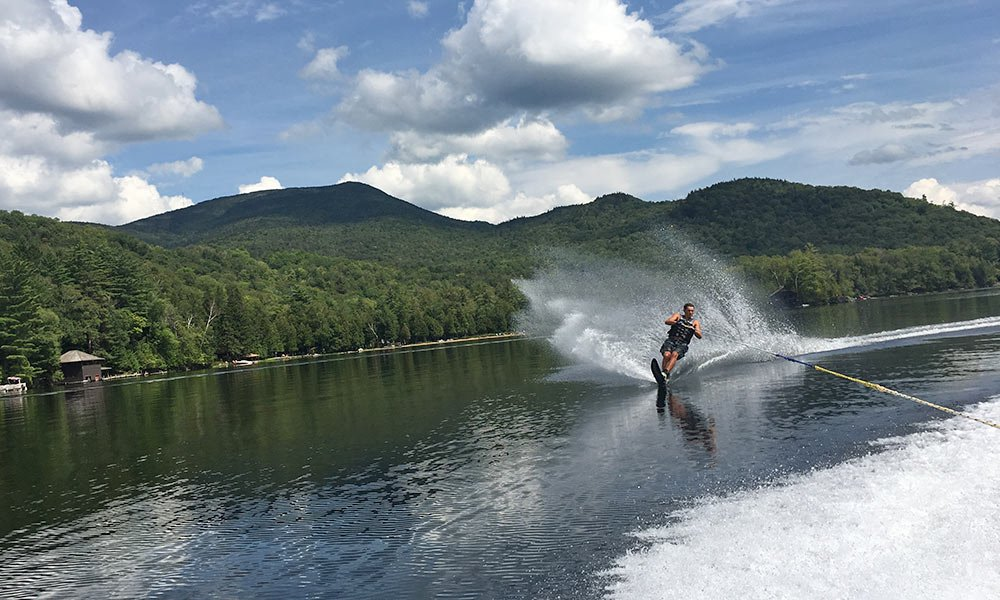 Water Skiing on Blue Mountain Lake