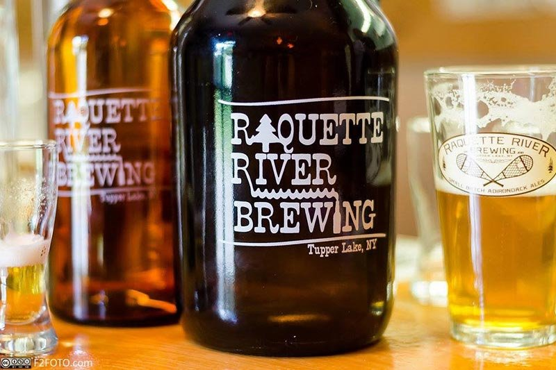 Raquette River Brewery Beer Bottle
