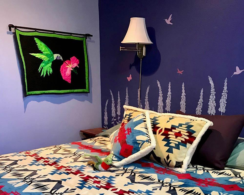 Bed with Fleece Pillows