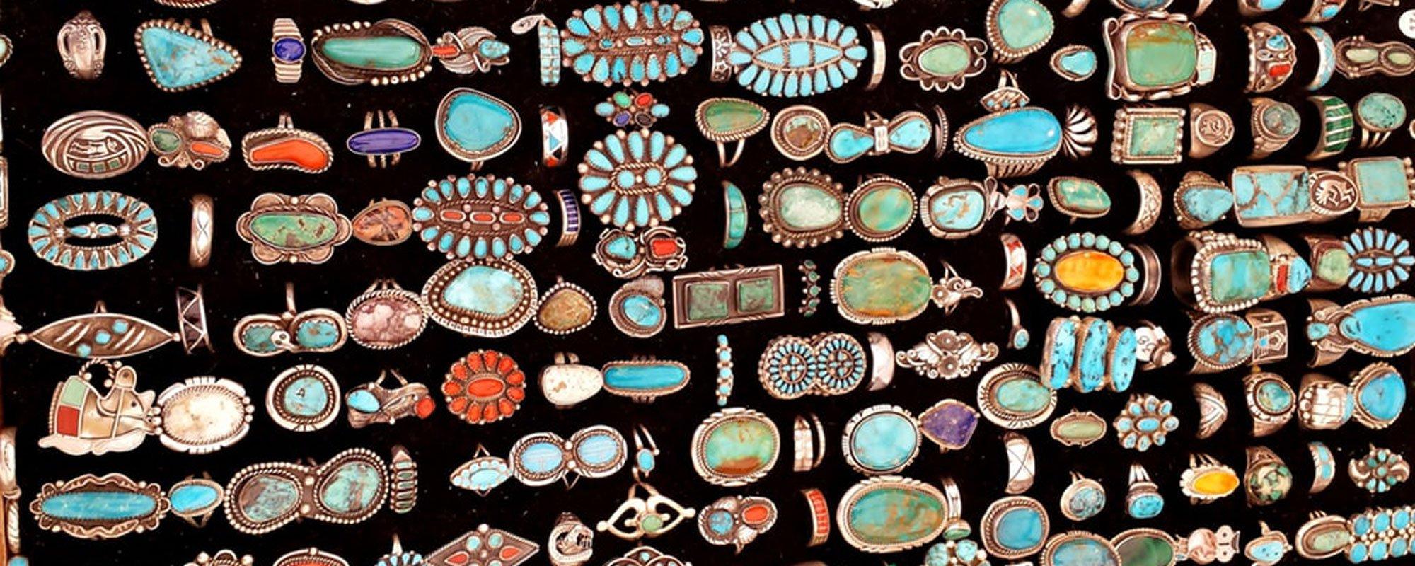 turquoise jewelry display
