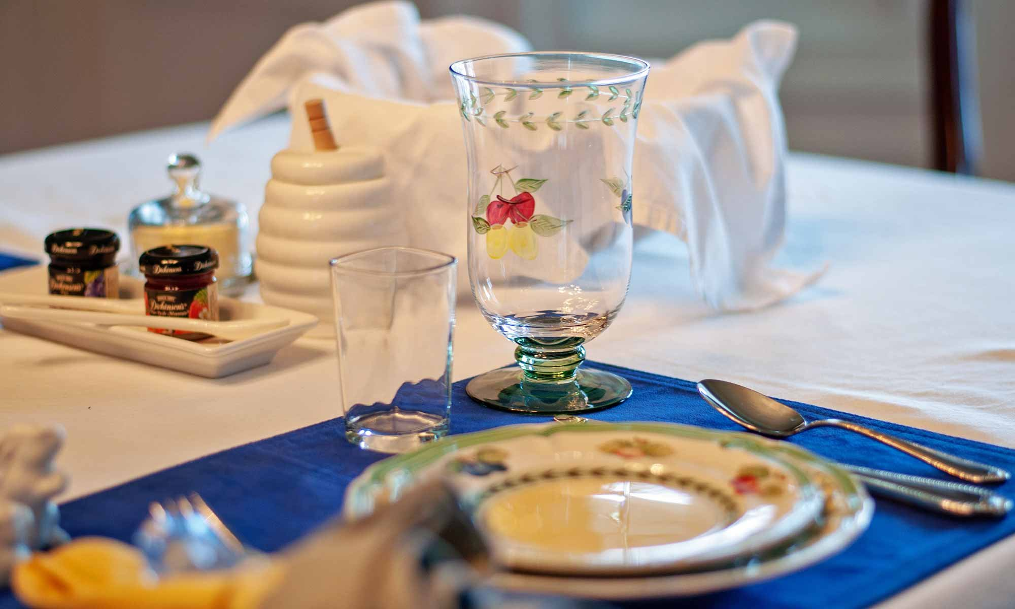 Placesetting With Napkin And Glasses