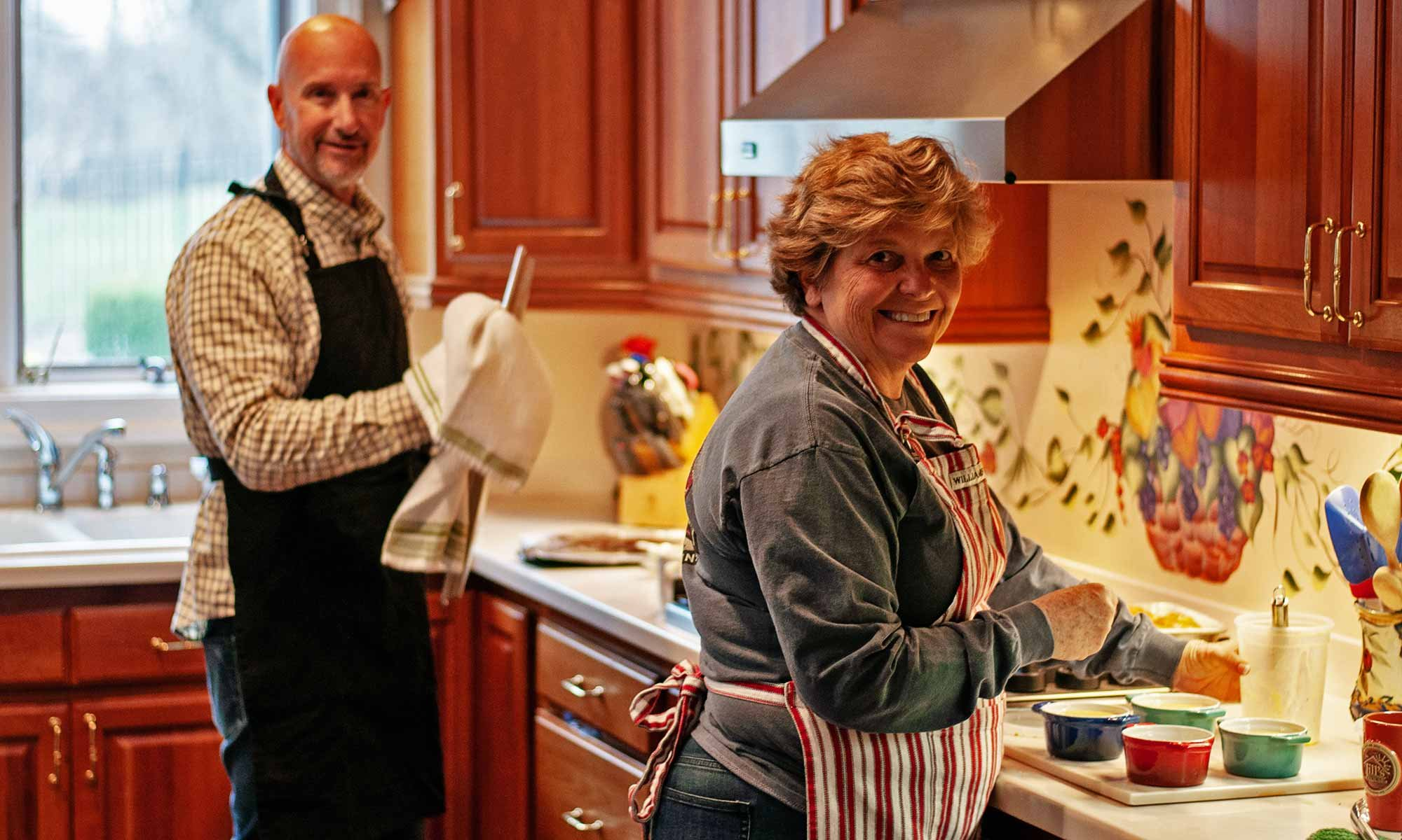 Innkeepers, Vickie and Richard, in The Kitchen