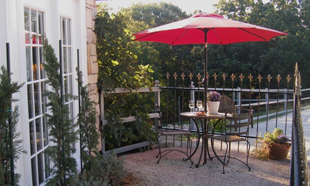 Patio with Table with Umbrella
