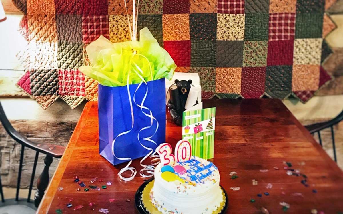 Birthday Present and Birthday Cake