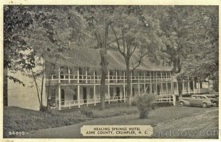 A sepia photograph of healing springs hotel