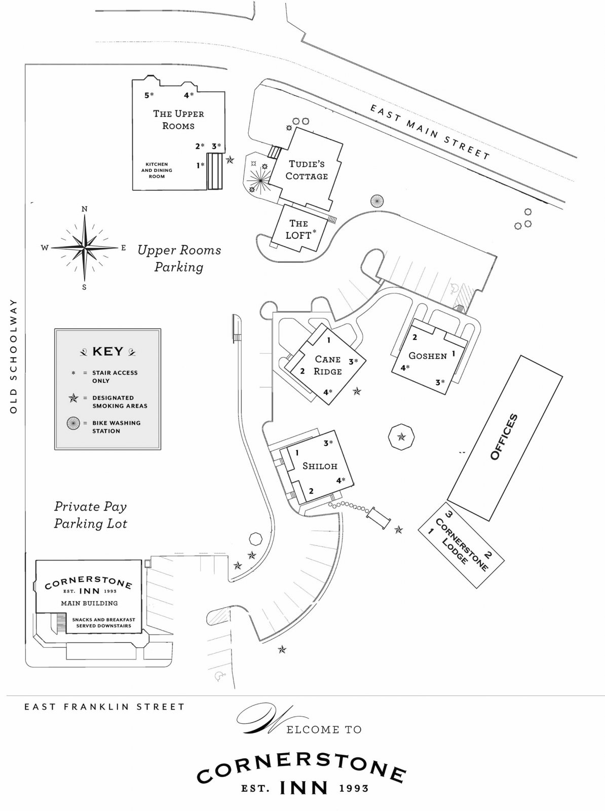 Campus Map of Cornerstone Inn