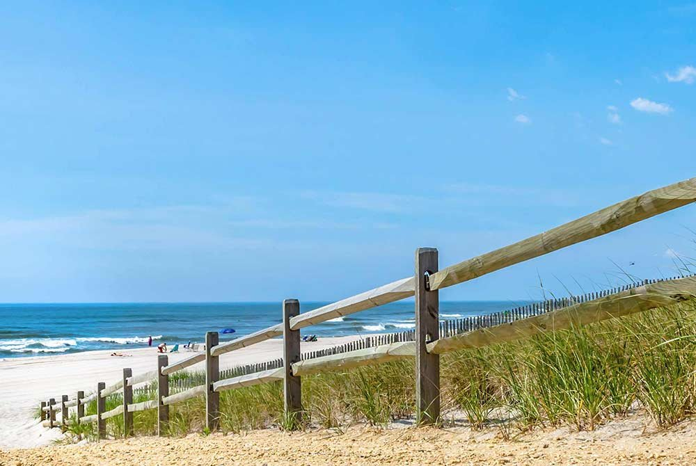 Railing Down to the Jersey Shore Beach