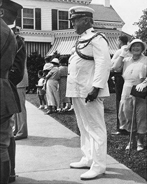 Vintage Photo of Mr. Thomas Mathis and Maja Leon Berry in Trenton, New Jersey