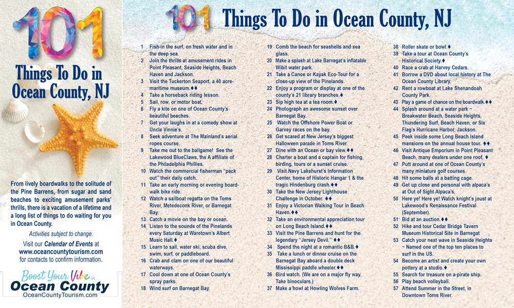 101 Things to do in Ocean County Flyer