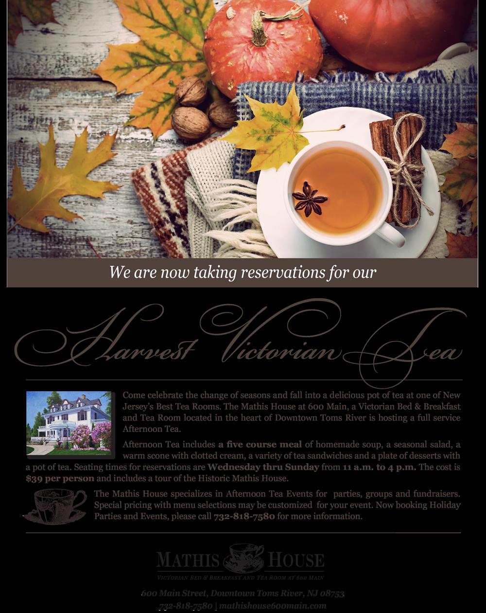 Harvest Tea Flyer