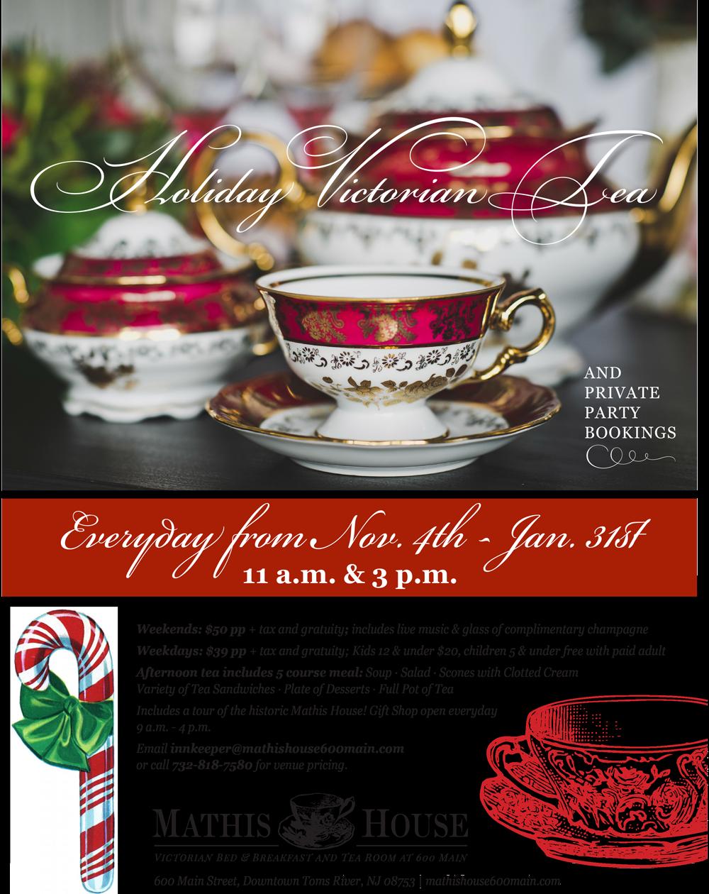 Holiday Tea Flyer