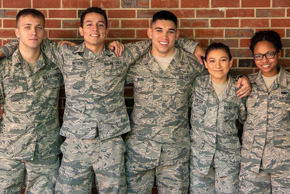 group of military personnel