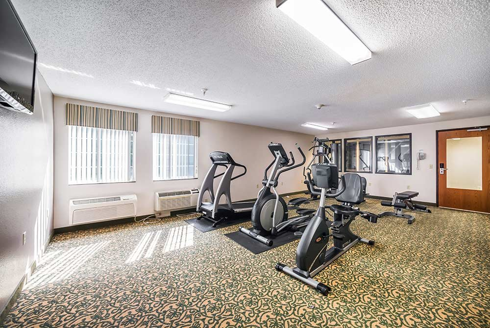 Workout Machines in Fitness Room