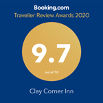 Clay Corner Inn's Booking.com Traveller Review Awards 2020
