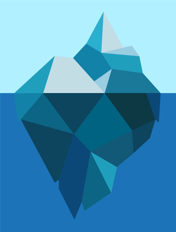 Submerged iceberg illustration