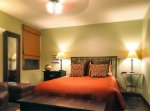 An orange themed bed